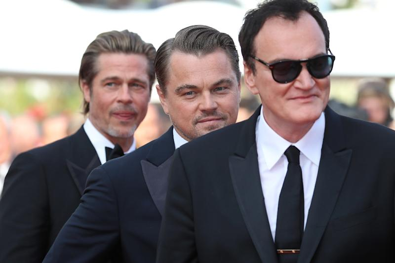 Director Quentin Tarantino is the only filmmaker to unite actors Leonardo DiCaprio and Brad Pitt on the silver screen (AFP Photo/Valery HACHE)