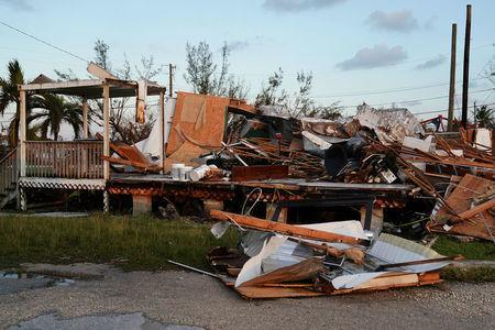 A destroyed business on US 1 is pictured after Hurricane Irma in Big Pine Key, Florida, U.S., September 14, 2017. REUTERS/Carlo Allegri