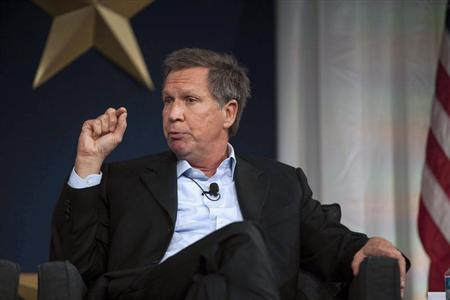 Governor Kasich responds to a topic at the 2013 Republican Governors Association conference in Scottsdale