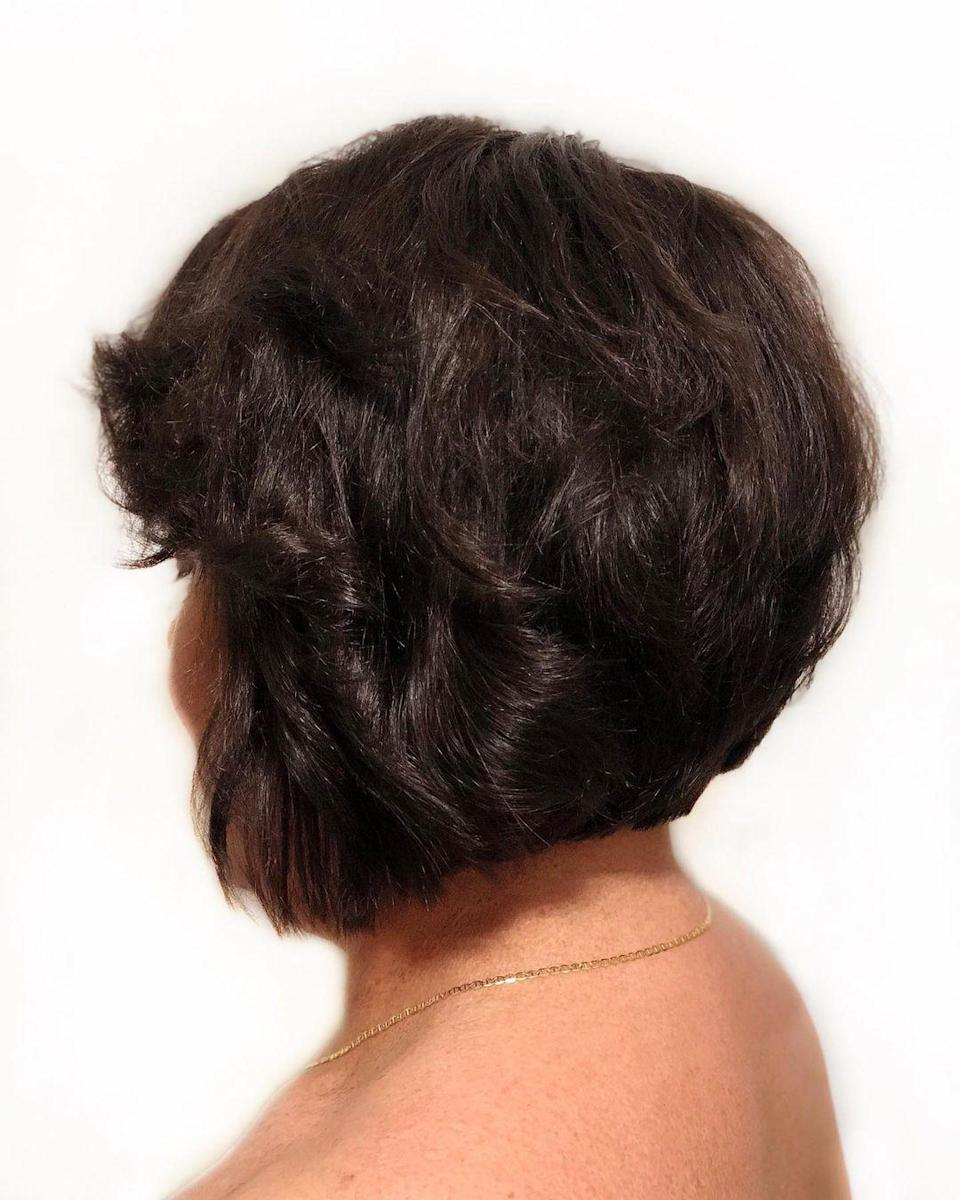 <p>A bob haircut will forever be a timeless look. Switch up a long bob for an asymmetrical bob to add interest and volume to your hair. </p>
