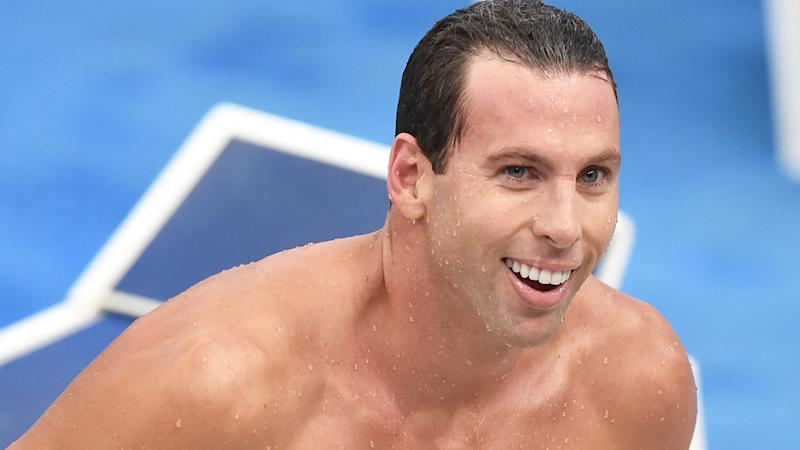Olympic champion Grant Hackett is pictured at the 2015 Australian Swimming Championships.