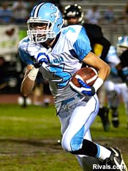 Camarillo wide receiver Jake Maulhardt in action