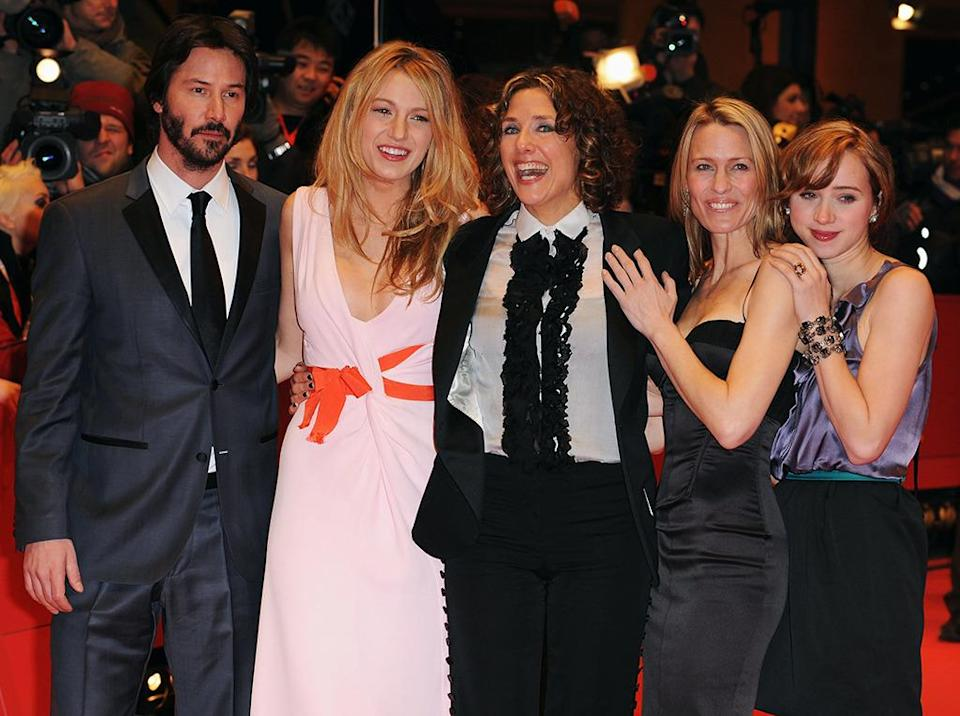 <p>In one of her most critically acclaimed roles, Lively played a younger version of Robin Wright's character in <i>The Private Lives of Pippa Lee</i>. She appears with director Rebecca Miller (center) and (from left) co-stars Keanu Reeves, Robin Wright Penn, and Zoe Kazan at the Berlin Premiere on Feb. 9, 2009. <i>(Photo: Pascal Le Segretain/Getty Images)</i></p>