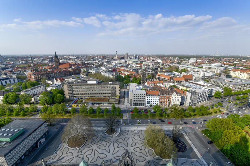 Panorama, city centre, Hannover, Lower Saxony, Germany, Innenstadt, Niedersachsen, Germany. (Photo by: Bildagentur-online/Universal Images Group via Getty Images)
