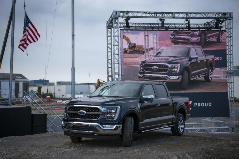 Ford shares rose after it reported better-than-expected quarterly profits on higher US sales of pickups and other large vehicles