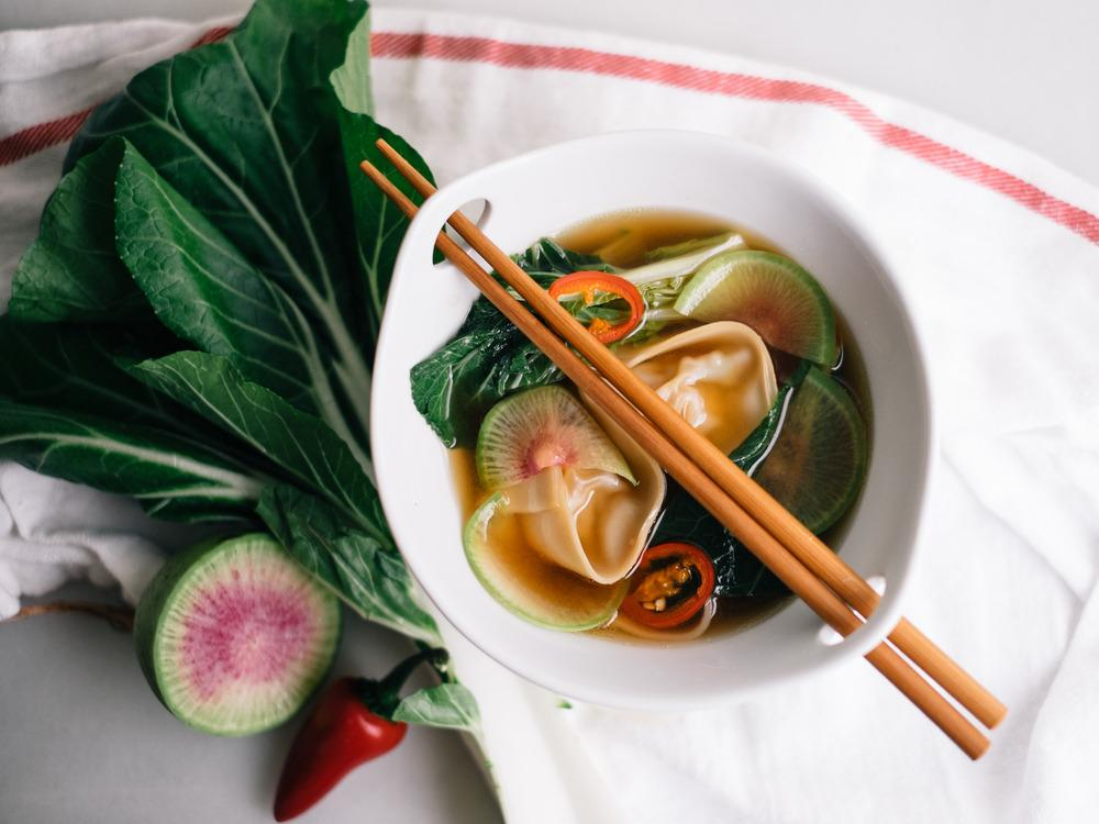 """<p>""""I love this recipe because it's quick, customizable, and comforting. It also packs a healthy kick!"""" -Alana of <a href=""""http://www.fixfeastflair.com/home/2015/1/8/spicy-chicken-wonton-soup-recipe"""">Fix Feast Flair</a></p>"""