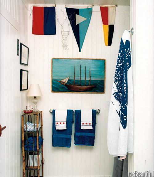 """<div class=""""caption-credit""""> Photo by: Christopher Baker</div><div class=""""caption-title"""">A Subtle Stars-and-Stripes Bathroom</div><p> In Nantucket cottage's bath, decorated by Gary McBournie, hand towels pay a subtle homage to the stars and stripes. Tip: Look for a subtle pattern like this one - it's usable year-round. </p> <p> <b>See more:</b> </p> <p> <a rel=""""nofollow noopener"""" href=""""http://www.housebeautiful.com/shopping/best/4th-of-july-entertaining-ideas?link=emb&dom=yah_life&src=syn&con=blog_housebeautiful&mag=hbu"""" target=""""_blank"""" data-ylk=""""slk:11 Chic Finds for 4th of July Party"""" class=""""link rapid-noclick-resp""""><b>11 Chic Finds for 4th of July Party</b></a> <br> <br> <a rel=""""nofollow noopener"""" href=""""http://www.housebeautiful.com/decorating/home-makeovers/summer-home-decorating-ideas?link=emb&dom=yah_life&src=syn&con=blog_housebeautiful&mag=hbu"""" target=""""_blank"""" data-ylk=""""slk:50+ Easy Summer Decorating Ideas"""" class=""""link rapid-noclick-resp""""><b>50+ Easy Summer Decorating Ideas</b></a> </p>"""