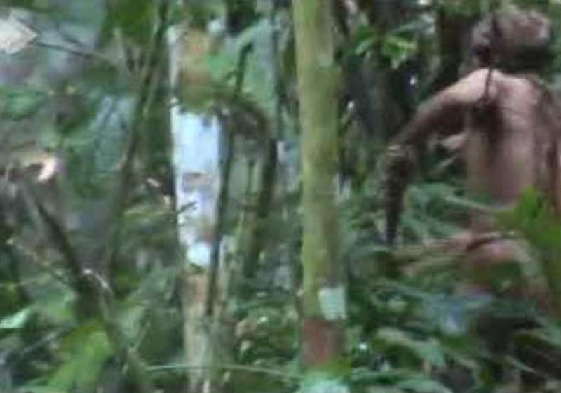Last surviving member of murdered Amazonian tribe caught on camera
