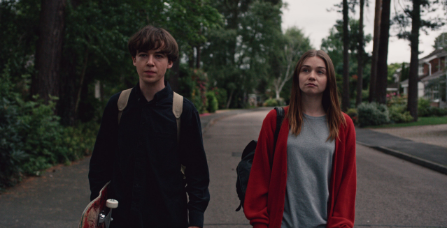 Alex Lawther and Jessica Barden in <em>The End of the F***ing World</em>. (Photo: Netflix)