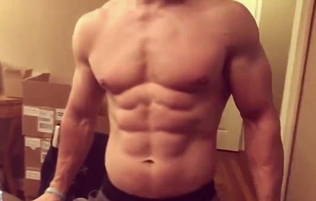 The video showed off his tight rig and six-pack abs. Source: Instagram