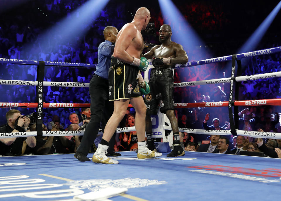 Deontay Wilder assistant Mark Breland is keeping his job after throwing in the towel. (Reuters/Steve Marcus)