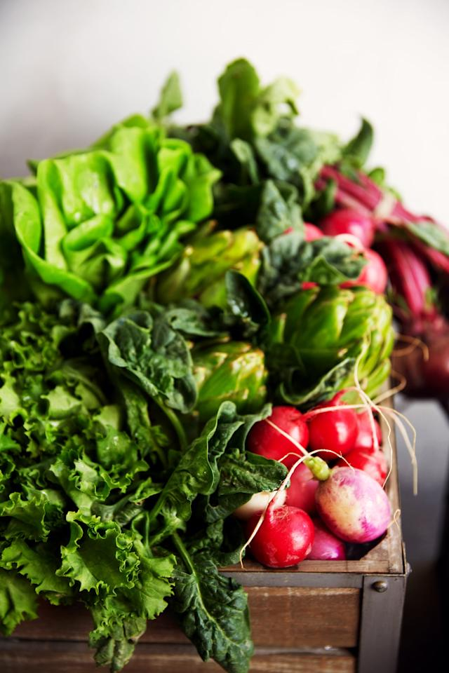"""<p>""""Leafy greens are high in phytonutrients and antioxidants, as well as vitamins A, E, C, and K,"""" Davis said. """"These vitamins are essential for <a rel=""""nofollow"""" href=""""https://www.popsugar.com/fitness/How-Boost-Your-Immune-System-44854334"""">a healthy immune system</a> and glowing skin."""" Eat them in a salad, fold them into a pasta dish (try spinach, mozzarella, and tomato), or add them to your breakfast omelet or smoothie.</p>"""