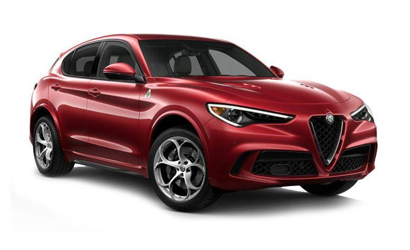 """<p><strong>Highs:</strong> Sexy exterior design, powerful twin-turbo V-6, a blast to drive.</p><p><strong>Lows:</strong> Questionable reliability, very firm suspension, cheap interior bits.</p><p><a class=""""body-btn-link"""" href=""""https://www.caranddriver.com/alfa-romeo/stelvio-quadrifoglio"""" target=""""_blank"""">Review, Pricing, and Specs</a></p>"""