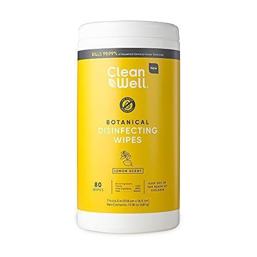 """<p><strong>CleanWell</strong></p><p>amazon.com</p><p><strong>$9.99</strong></p><p><a href=""""https://www.amazon.com/dp/B0934MGJVM?tag=syn-yahoo-20&ascsubtag=%5Bartid%7C2141.g.37374115%5Bsrc%7Cyahoo-us"""" rel=""""nofollow noopener"""" target=""""_blank"""" data-ylk=""""slk:Shop Now"""" class=""""link rapid-noclick-resp"""">Shop Now</a></p><p>Clean and sanitize in a pinch with Clean Well Botanical Disinfecting Wipes, proven to kill 99.9% of household germs. They're free from bleach and harsh chemicals and are powered by thymol, an oil found in thyme, which has disinfecting properties.</p>"""