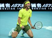 Greece's Stefanos Tsitsipas beat Thanasi Kokkinakis in five sets