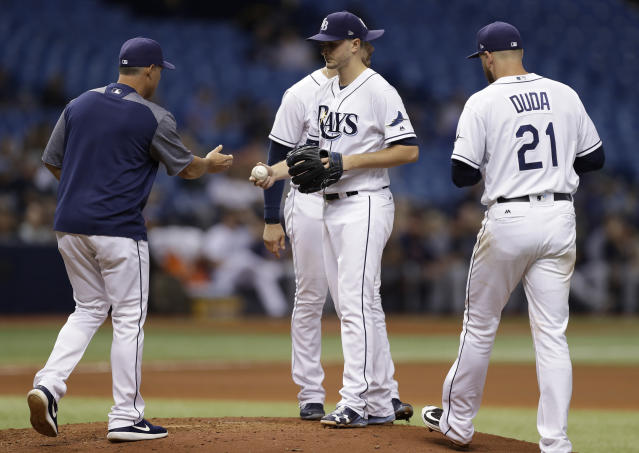 The Rays are trying to be innovative with a four-man rotation, but it's an exceptionally risky strategy. (AP Photo)