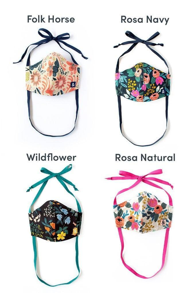 """<p>Hedley & Bennett teamed up with Rifle Paper Co. to create a limited-edition collection of masks. These <span>Hedley & Bennett x Rifle Paper Co. Masks</span> ($22) are cute, colorful, and affordable. The two brands are donating 25,000 masks to <a href=""""https://baby2baby.org/"""" class=""""link rapid-noclick-resp"""" rel=""""nofollow noopener"""" target=""""_blank"""" data-ylk=""""slk:Baby2Baby's"""">Baby2Baby's</a> COVID relief efforts, so every purchase you make counts.</p>"""