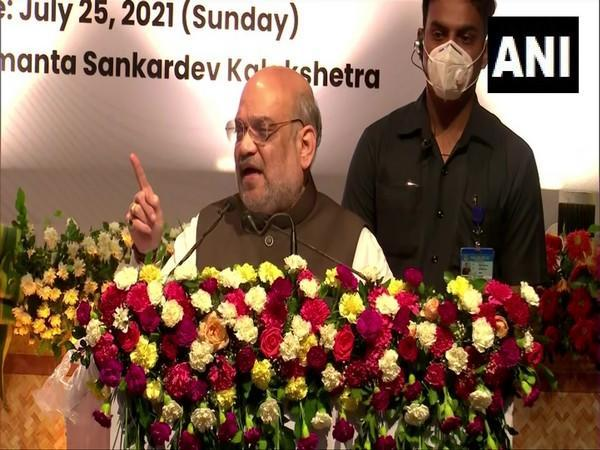 Union Minister Amit Shah in Assam (Photo/ANI)