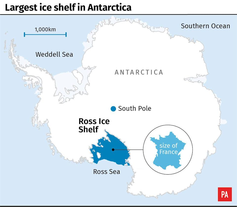 Antarctica's Ross Ice Shelf may be more vulnerable than previously thought due to warming surface water, say scientists.