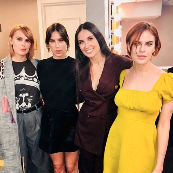Moore with her daughters Rumer, Scout and Tallulah Willis. Image via Instagram/@moore2d.