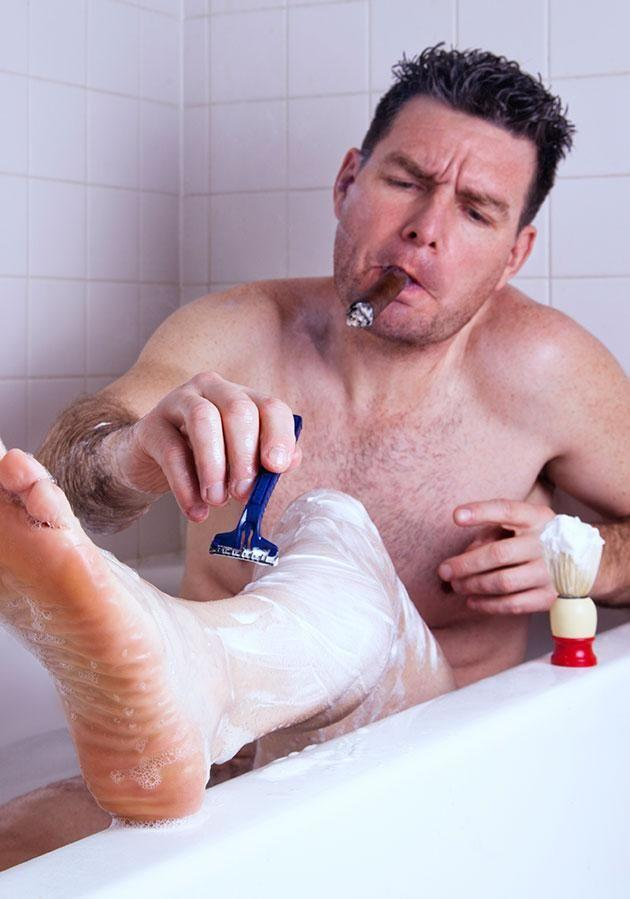 NEarly 50 per cent of women are turned off my men who shave their legs. Photo: Getty