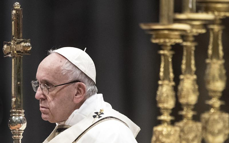 Pope Francis during a Mass in St Peter's Basilica in January - Corbis News