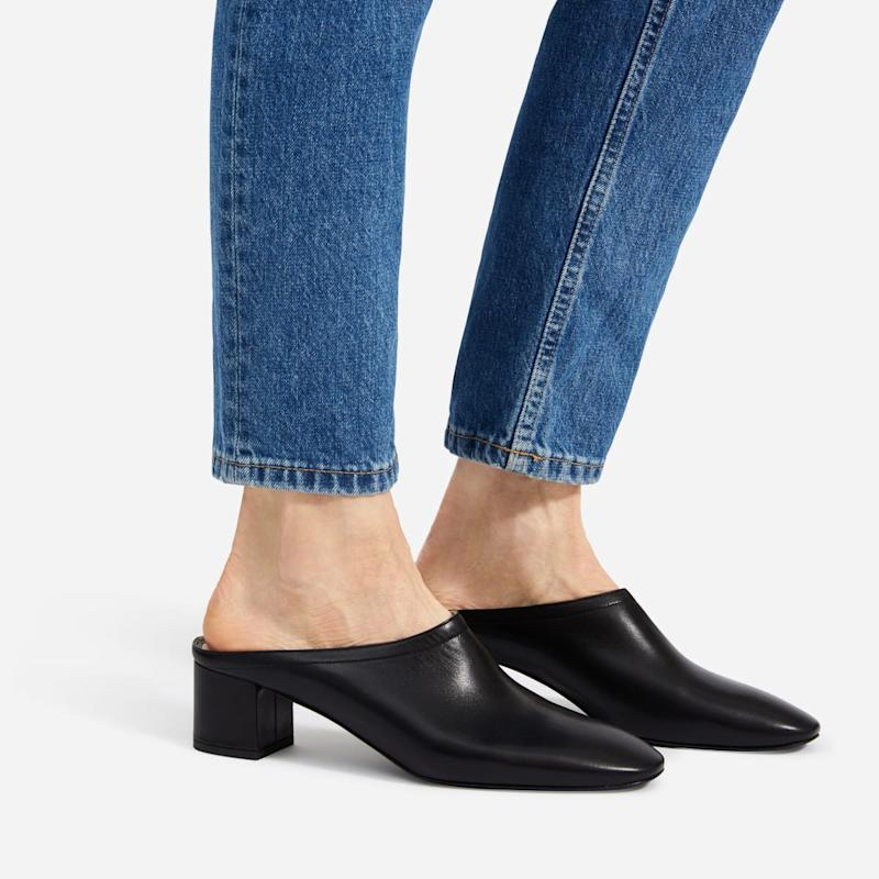 Everlane's Day Heel Mules come in three colours