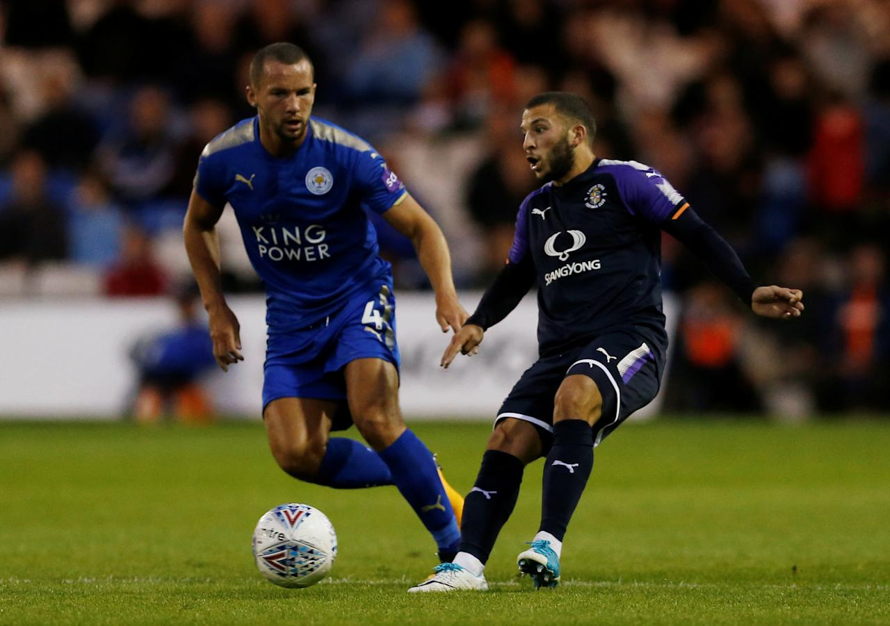 Soccer Football - Luton Town vs Leicester City - Pre Season Friendly - Luton, Britain - July 26, 2017   Leicester City's Danny Drinkwater in action with Luton Town's Luke Gambin   Action Images via Reuters/Matthew Childs