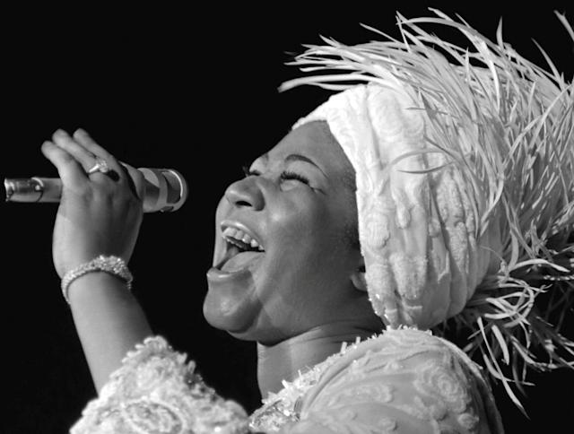 <p>Aretha Franklin opens at Caesars Palace in Las Vegas, Nevada, in 1969. (Reuters) </p>