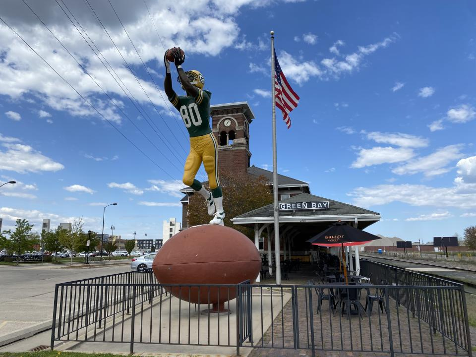 When train travelers arrive in Green Bay, they immediately know they are in Packer land. (Yahoo Sports)