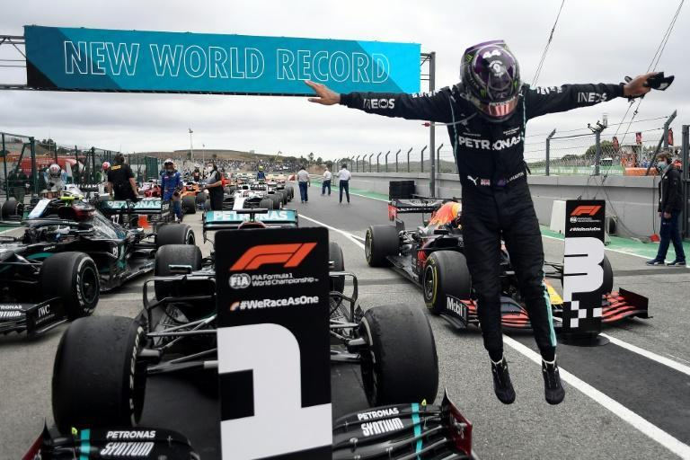 Hamilton after win number 92 in Portugal last season