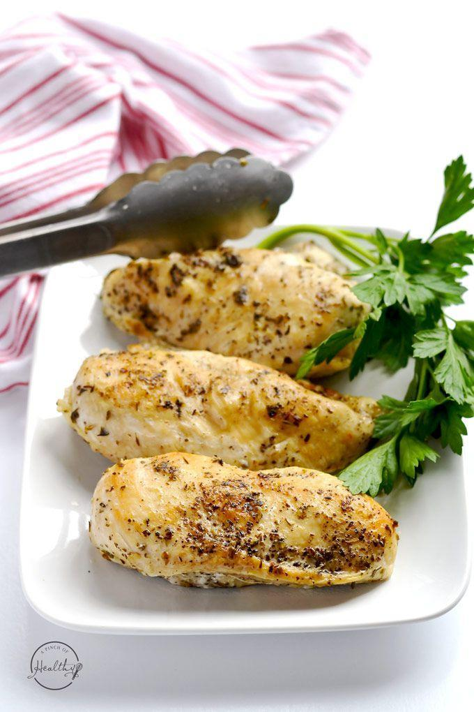 """<p>The easiest way to stock your fridge with ready-to-eat chicken breasts.</p><p>Get the recipe from <a href=""""http://www.apinchofhealthy.com/instant-pot-chicken-breasts/"""" rel=""""nofollow noopener"""" target=""""_blank"""" data-ylk=""""slk:A Pinch of Healthy"""" class=""""link rapid-noclick-resp"""">A Pinch of Healthy</a>.</p>"""