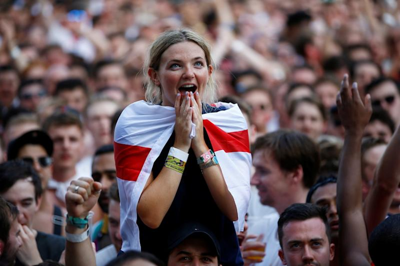 England fans will watch nervously as the Three Lions take on Croatia: REUTERS