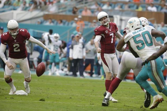 Chandler Catanzaro missed a key extra point on Sunday. (AP)