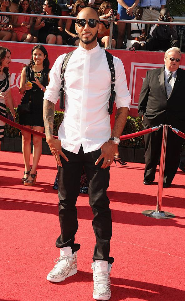 Record producer/rapper/DJ/Alicia Keys' hubby Swizz Beatz arrives at the 2012 ESPY Awards.