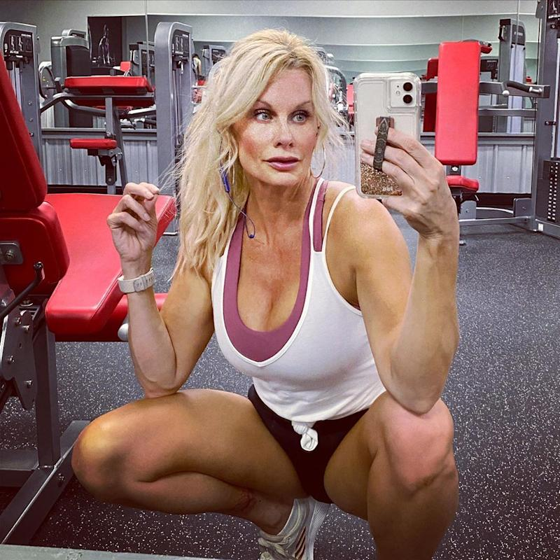 youthful looking 51 year old in the gym