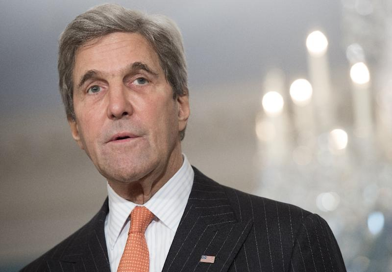 US Secretary of State John Kerry said he will continue to argue for environmental protection, foreign aid and strong alliances (AFP Photo/SAUL LOEB)