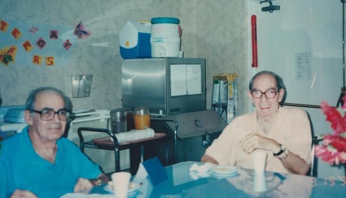 John Strauss (left) and Lionel Friedman in Los Angeles.