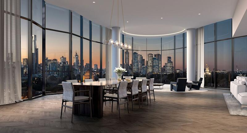Melbourne's most expensive The Muse apartment penthouse on St Kilda Road.