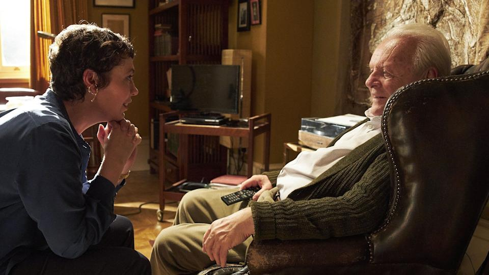 Anthony Hopkins (right) and Olivia Colman in The Father.