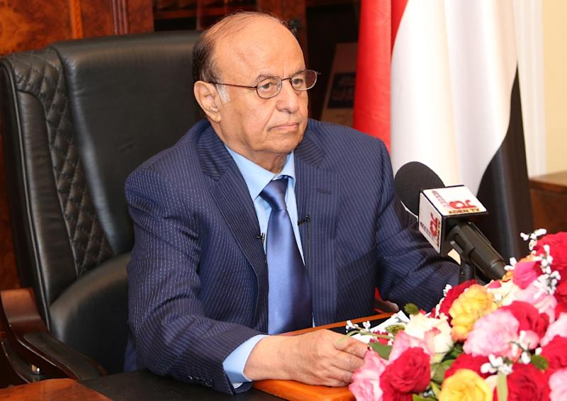 Yemen's exiled president President Abedrabbo Mansour Hadi says he will not negotiate with Huthi rebels (AFP Photo/Hand Out)