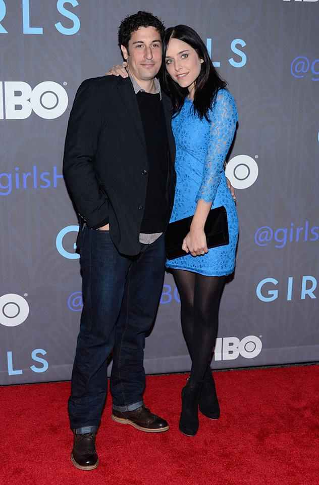 "Jason Biggs and guest attend HBO's premiere of ""Girls"" Season 2 at the NYU Skirball Center on January 9, 2013 in New York City."
