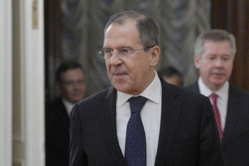 Russia's Foreign Minister Sergei Lavrov speaks in Moscow on December 28, 2012