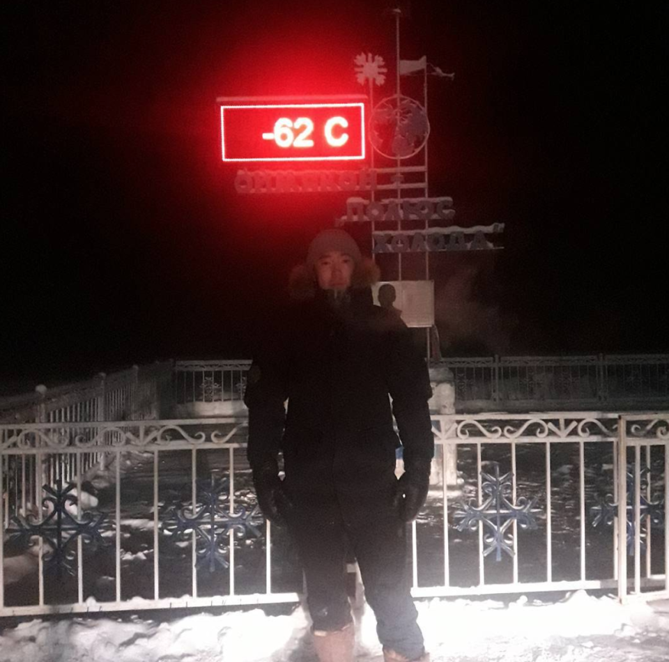 <em>Too cold – a new electronic thermometer for the village got as low as -62C, then broke because it was too cold (Picture: Instagram/SIVTSEVA9452)</em>