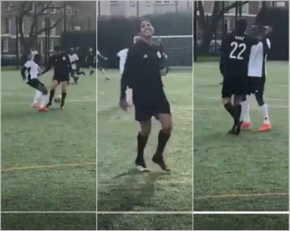 Kaka did not anticipated being nutmegged by the warehouse worker
