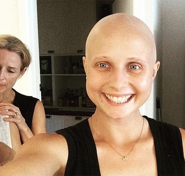 Tessa James during her treatment. Source: Instagram