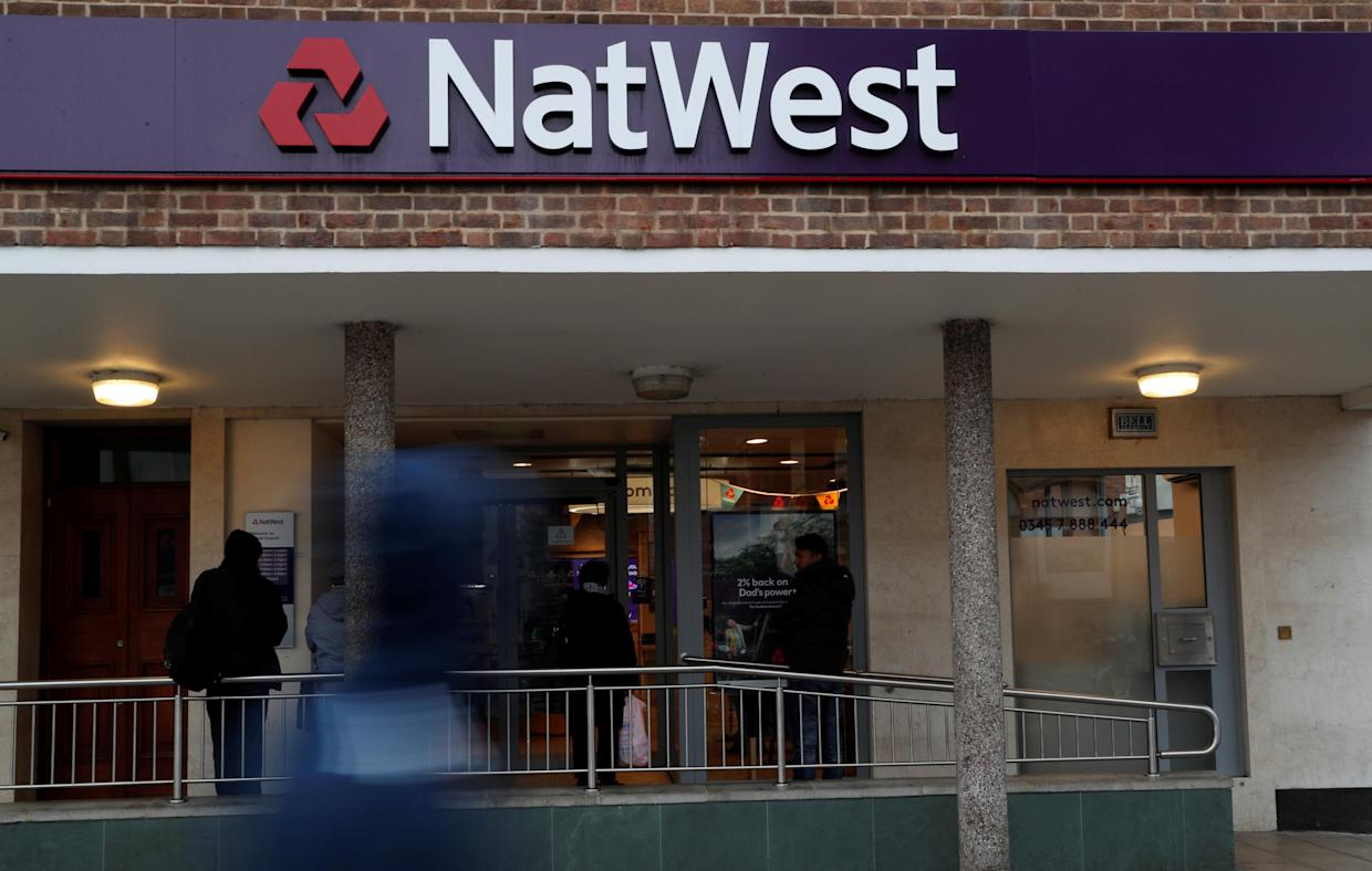 A NatWest Bank branch in Enfield, London. Photo: John Sibley/Reuters