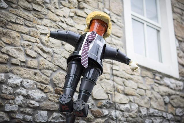 <p>President Donald Trump has made an appearance at this years Settle Flowerpot Festival in Settle in the Yorkshire Dales, U.K. on Aug. 7, 2017. (Photo: Andrew McCaren/LNP/REX/Shutterstock) </p>