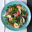 <p>The burst-in-your-mouth juicy sweetness of red grapefruit is a great partner for the slightly briny and chewy bite of cooked shrimp. In this healthy salad recipe, we use romaine lettuce and red cabbage, but a handful of peppery arugula or watercress would be a nice addition.</p>