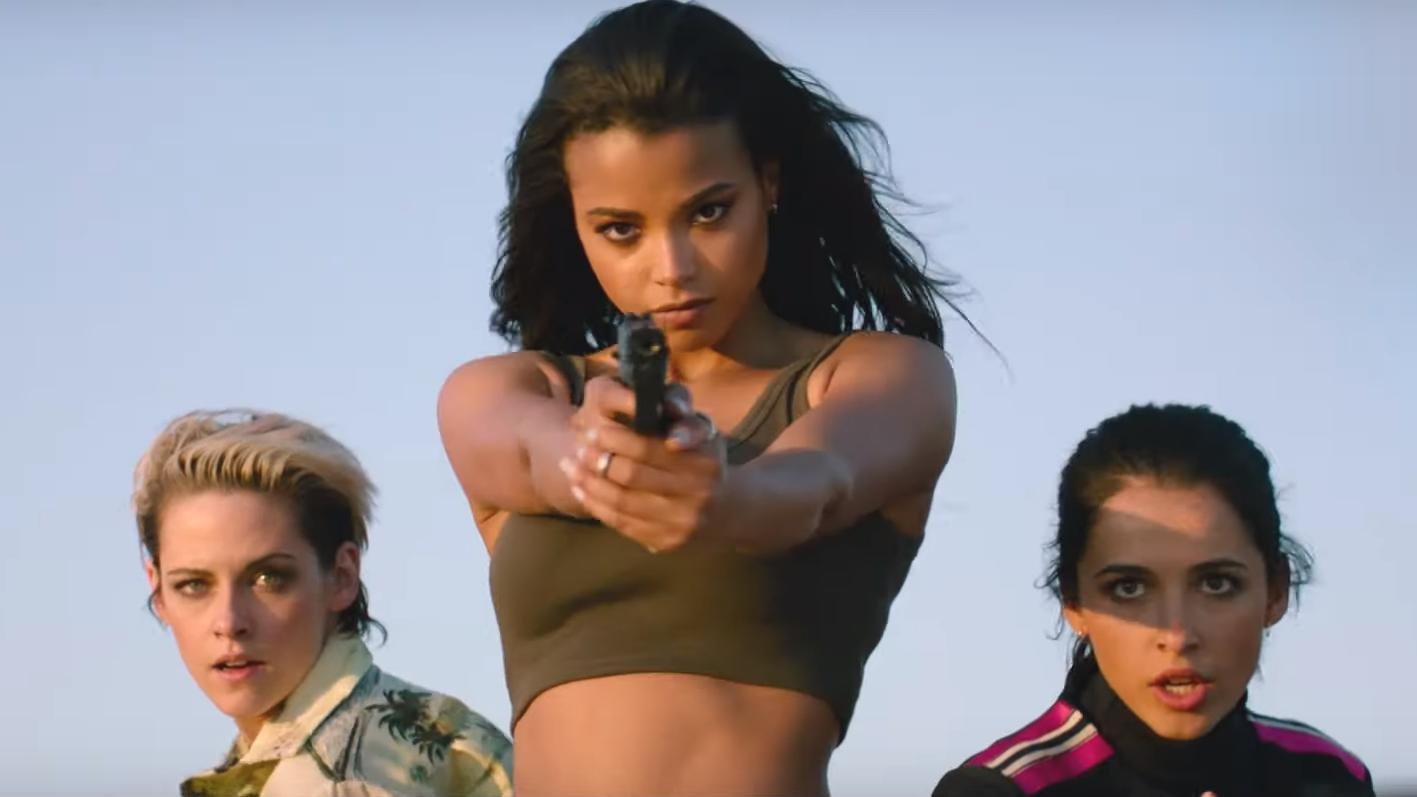 Kristen Stewart, Ella Balinska and Naomi Scott in the new trailer for Sony's 'Charlie's Angels'.